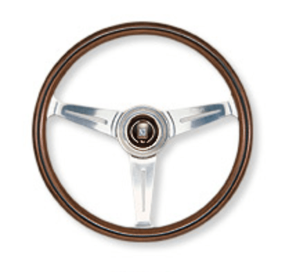 Type: Flat - Material: Wood - Color: Polished Spoke - Diameter: 340mm - N340