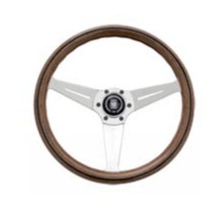 Type: Deep Cone - Material: Wood - Color: Polished Spoke - Diameter: 350mm - N770