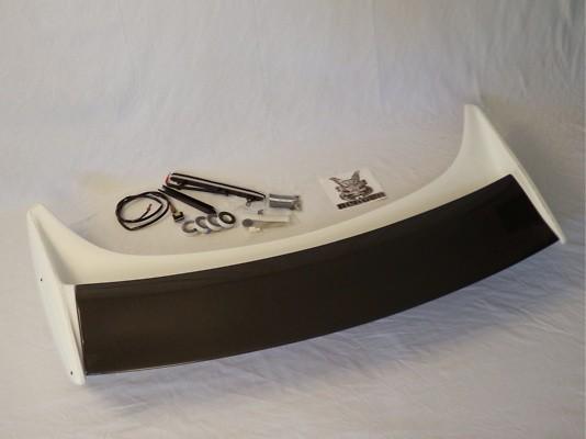 K6030-CF011 Nissan - 350Z - Rear Wing V2 - FRP Unpainted & Carbon Flap - 3 Stage Adjustme