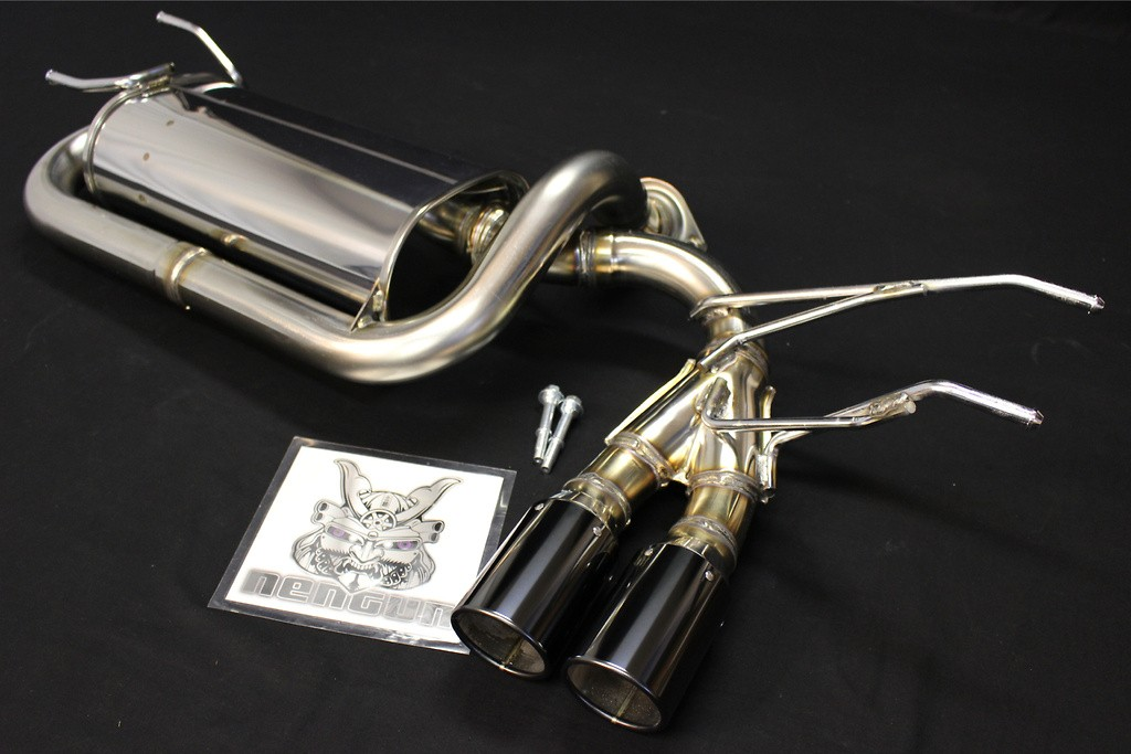 Rear Muffler Only - Pieces: 1 - Pipe Size: 54-50mm - Tail Size: 2x 75mm - 32018-AZ010