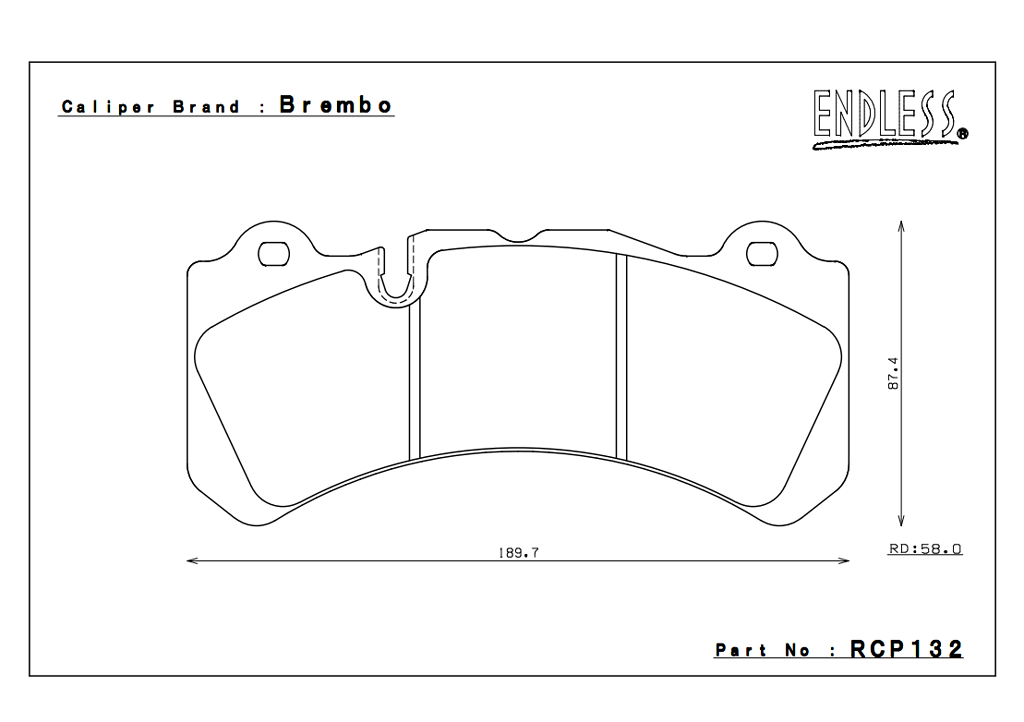 Brembo - 6 Pot - RCP132