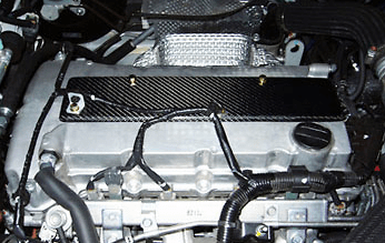 HKS Kansai - Carbon Plug Cover and Timing Belt Cover - Evo X