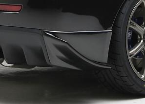 Sequential - Black Illusion - Evo X - Rear Bumper Side Fin
