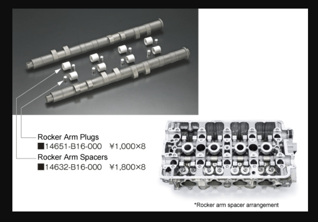 Toda - Rocker Arm Plugs + Spacers