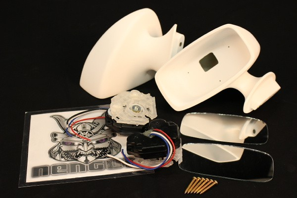Aero Mirrors - Electric - Construction: FRP - Colour: Unpainted - 20516