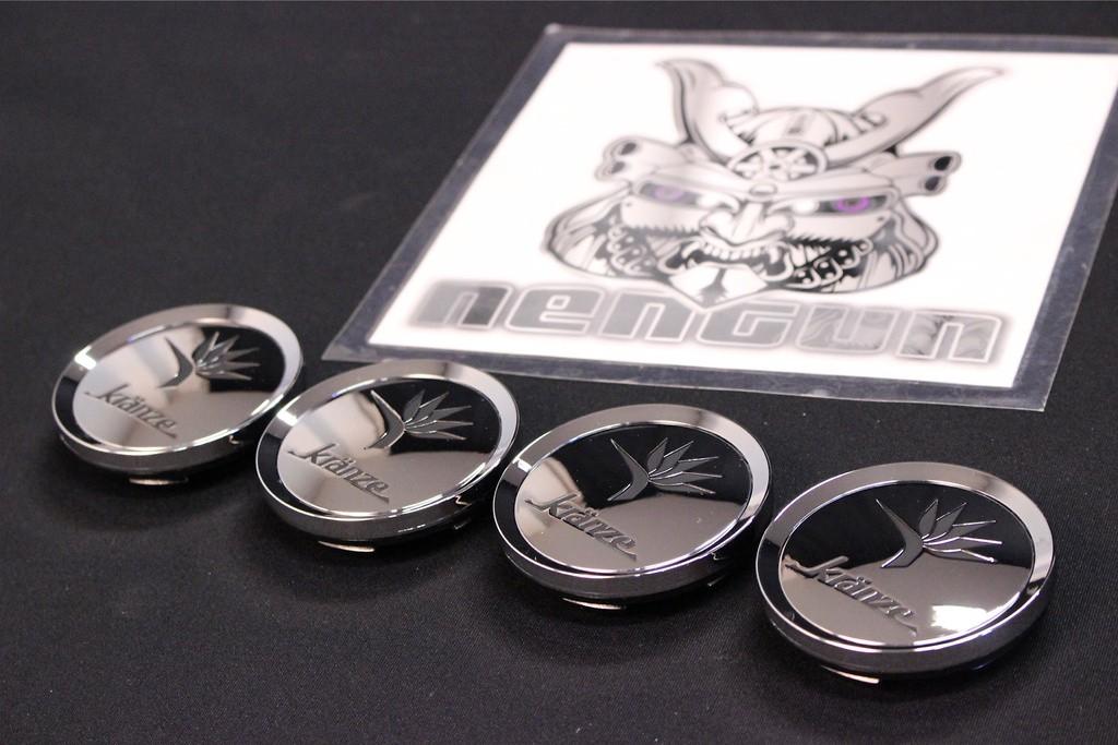 "Kranze BAZREIA - 18""~20"" (3 piece wheel) - Colour: Chrome & Black Logo - 52574"