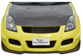 TM Square Front Bumper Spoiler - Carbon Fibre/FRP