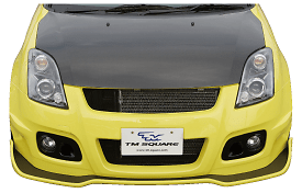 TM Square Front Bumper Spoiler - FRP only