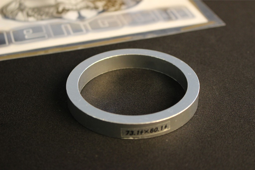 Outer Diameter: 73.1mm - Inner Diameter: 60.1mm - Quantity: 1 - TYPE A