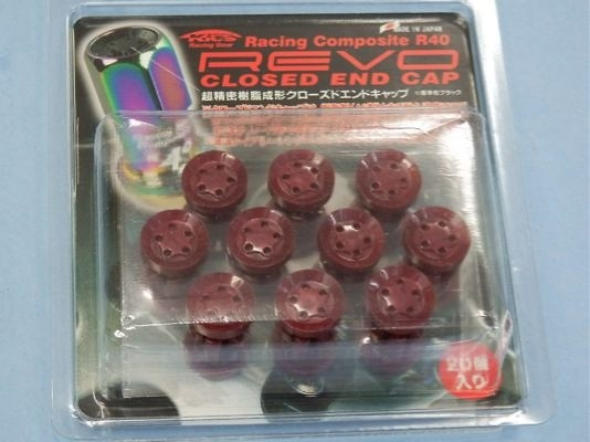 Kics - R40 REVO Closed End Cap Red - 20 Pieces