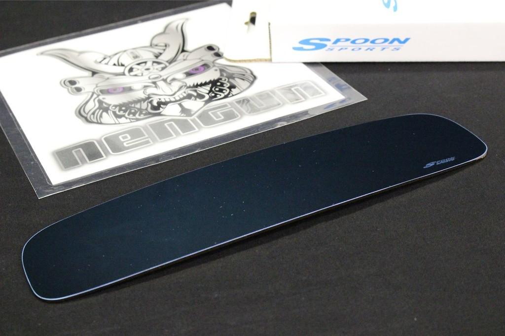 Spoon - Blue Wide Rear View Mirror