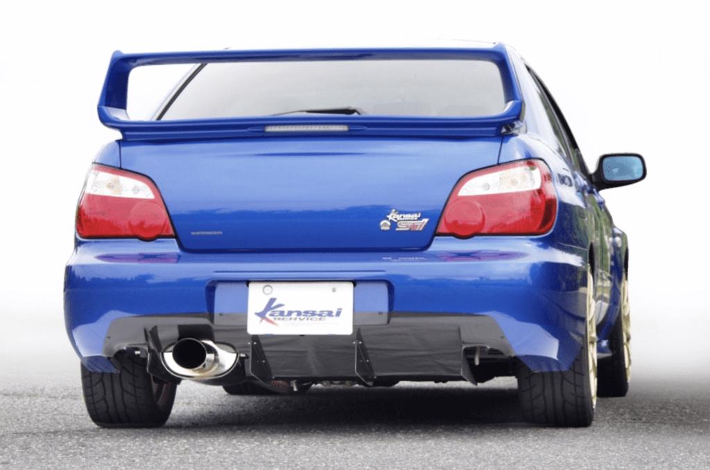 Kansai Service - Rear Diffuser - Subaru Impreza GDB