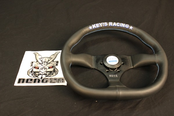 Key's Racing - Steering Wheel - D-Shape - Leather