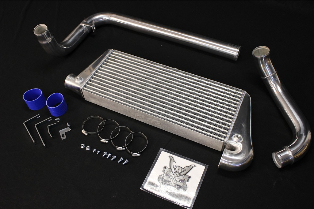 Uses Standard Intercooler Piping Holes - Core: TYPE JS - Height: 266mm - Length: 610mm - Thickness: 68mm - 23100