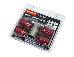 Standard - 4 Lock Nut Set - Red