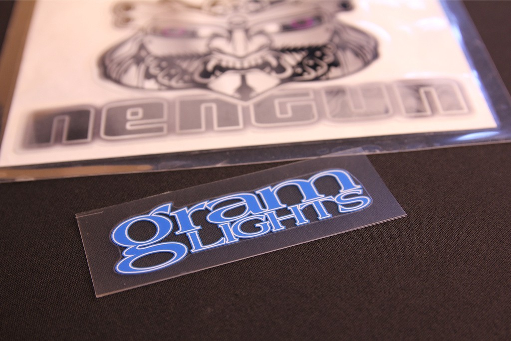 "Gram Lights Logo for 57Series 15""/16"" - Colour: Blue - Dimensions: W75mm - Quantity: 1 - No.7"