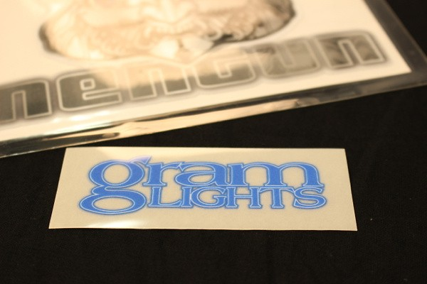 Gram Lights Logo for 57S-PRO, 57maximum-pro - Colour: Luminous Blue - Dimensions: 80 x 28mm - Quantity: 1 - No.2