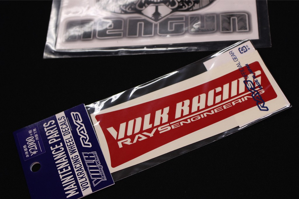 """Volk Racing & Rays Engineering Spoke Sticker for 17/18"""" - Colour: Red - Quantity: 1 - No.10 RD 17/18"""""""