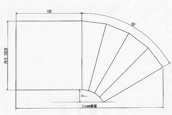 D1-like vehicle muffler cutter - 100mm - SLANT TAIL