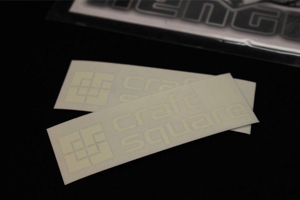 2x Craft Square Mirror Stickers - TCA-F STICKERS