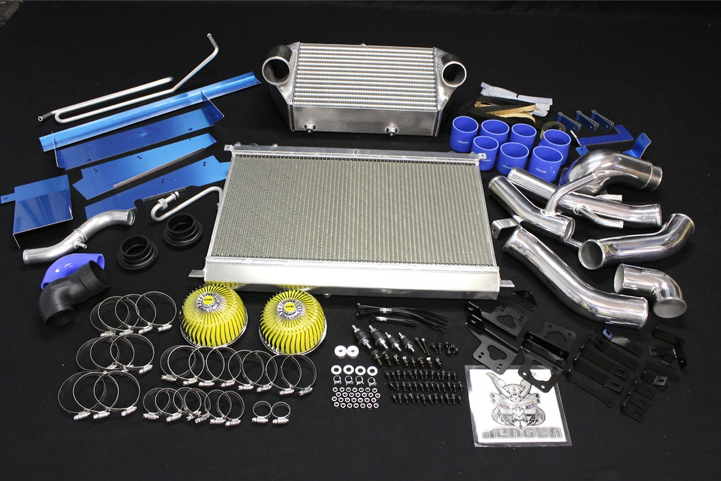 Full Kit with Intercooler & Radiator - Height: 266 - Length: 400 - Thickness: 100 - 12040701