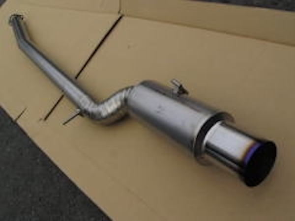 Material: Titanium - Pipe Size: 90mm - Tail Size: 115mm - UL-STM-CZ4A