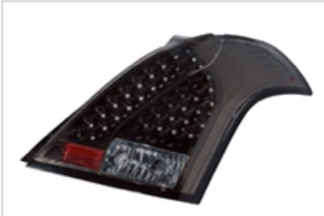 Valenti - Jewel Tail Lamp - Light Smoke/Black Chrome