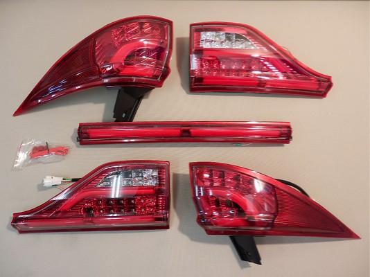Toyota - Estima - GSR/ASR50 AHR20 - Clear/Red Chrome - TT50EST-CR-1