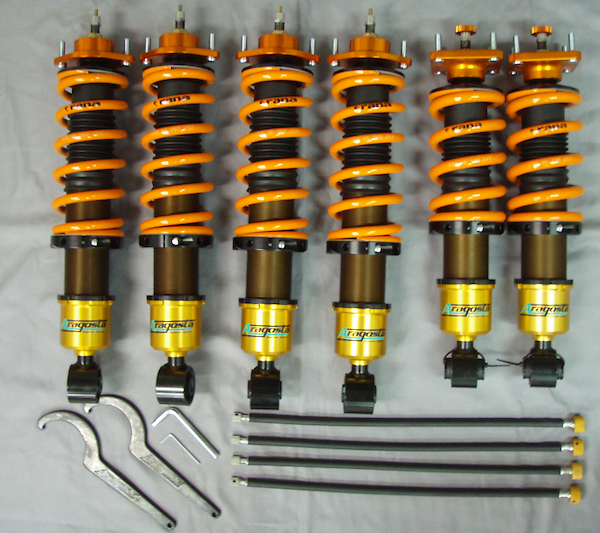 Front Spring: 12 kgf - Rear Spring: 5 kgf - Upper Mounts: Fixed Pillow Ball Type - 3AA.FR4.A1.000