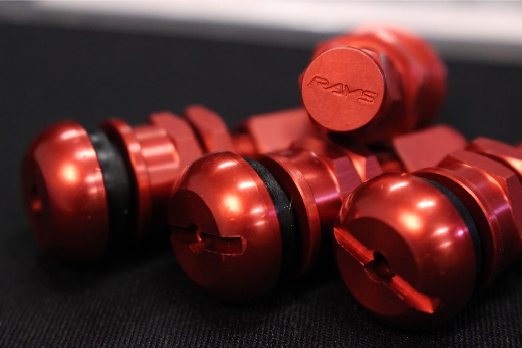 Europe Aluminum Valvestem - Rays New Logo - Colour: Red - Quantity: 4 - #51 Set of 4