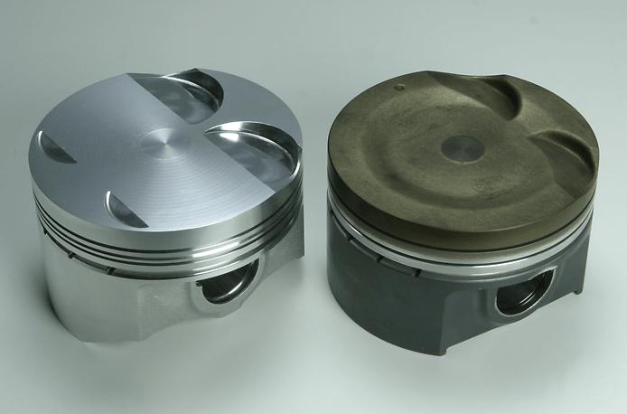 Monster - Forged Piston Kit - ZC31S - Left: Monster Right: Standard