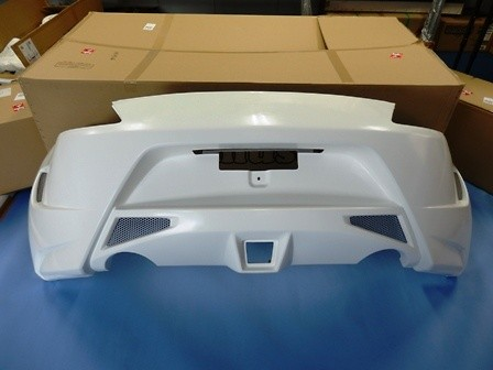 Construction: FRP - Colour: Unpainted - Rear Bumper
