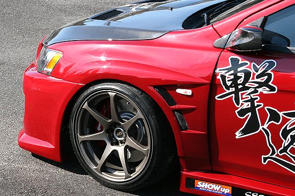 ChargeSpeed - Gekisoku - Evo X - D1 Style Front Fenders