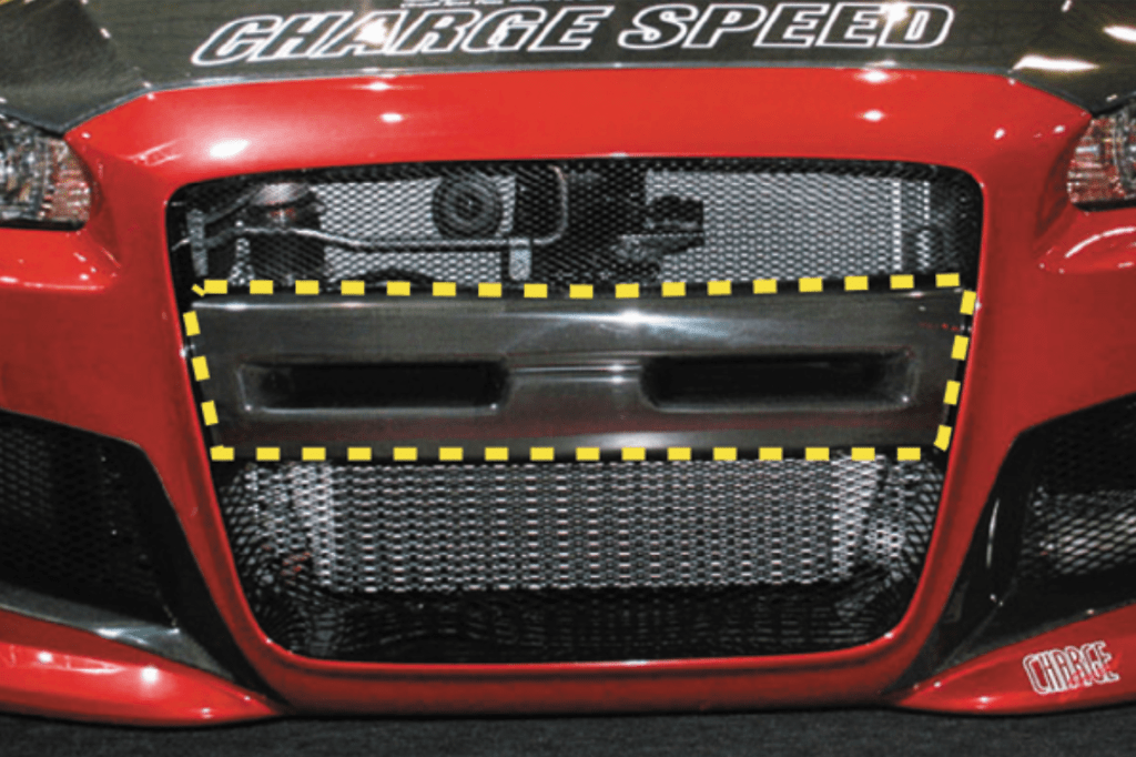 CS Bumper Center Garnish - for ChargeSpeed front bumper - Construction: Carbon - 004928c