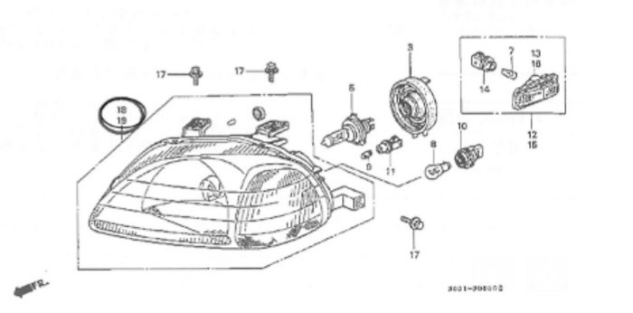 Is300 Front End Diagram together with Led Car Headlights For Sale as well Honda Accord Ecu Wiring Diagram additionally Honda Integra Oem Parts Diagrams moreover Acura Integra Parts Catalog. on jdm front integra wiring diagram