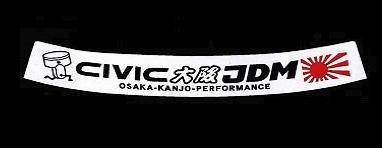 Osaka JDM - Top Windscreen Sticker