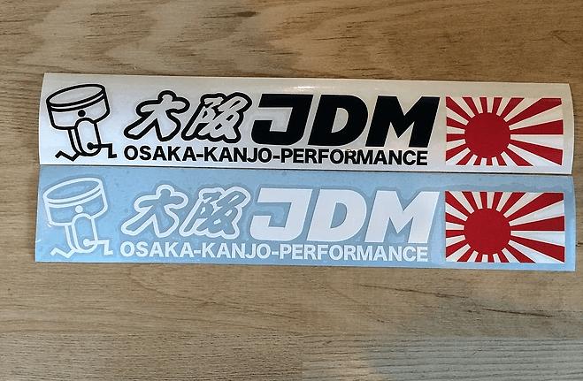 Osaka JDM - Osaka-Kanjo-Performance - Size: 60mm x 300mm - Colour: White - ST004-W