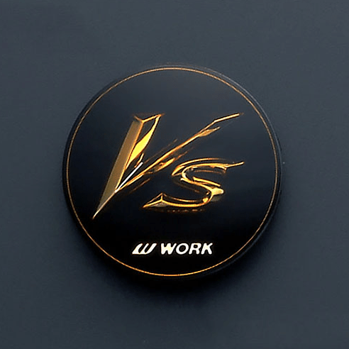 """for 18"""", 19"""" and 20"""" Wheels ONLY - Colour: Black/Gold - Quantity: 4 - VS XX Centre Caps"""