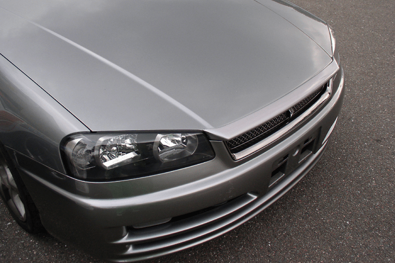 Nissan - Skyline R34 GTT - ER34 - 4 Door and 2 Door - Bonnet Lip Spoiler- FRP - R34 BLS - Type 1