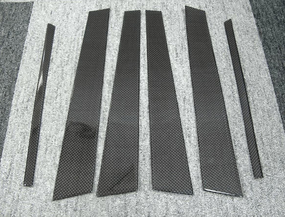 Carbon Pillar Covers (6 piece set) - Construction: Carbon - R34 CPC - 4 Door Set