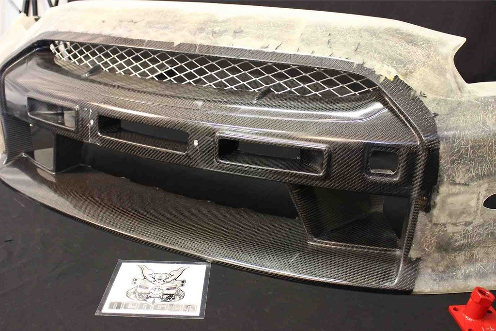 Nissan GTR R35 Front bumper and front lip. ( No LED) - R35 Front Bumper