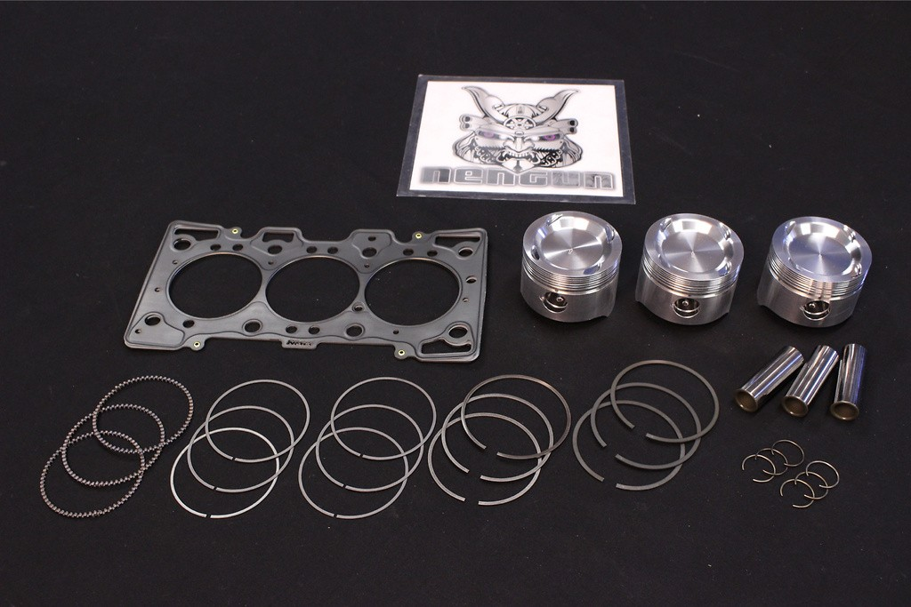 with 1.4mm Head Gasket - F6A EA11R Piston Kit