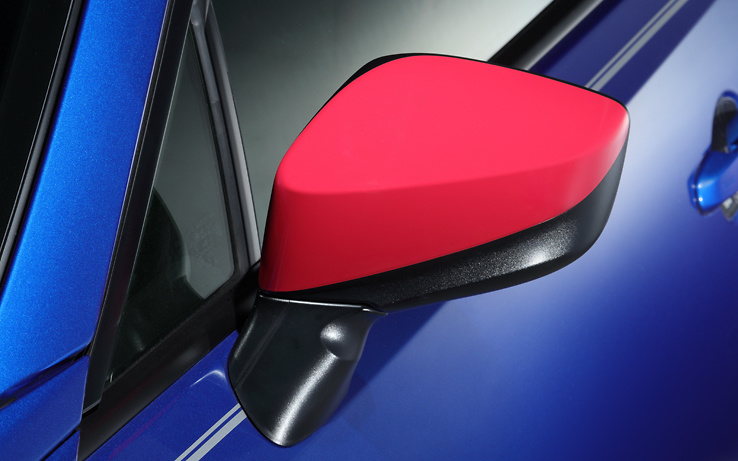 Door Mirror Cover, Left - Colour: Cherry Red - ST91054AS010
