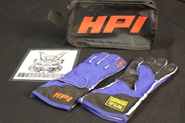 Image linked to Item: HPCGGL02L Racing Gloves L BL/BK