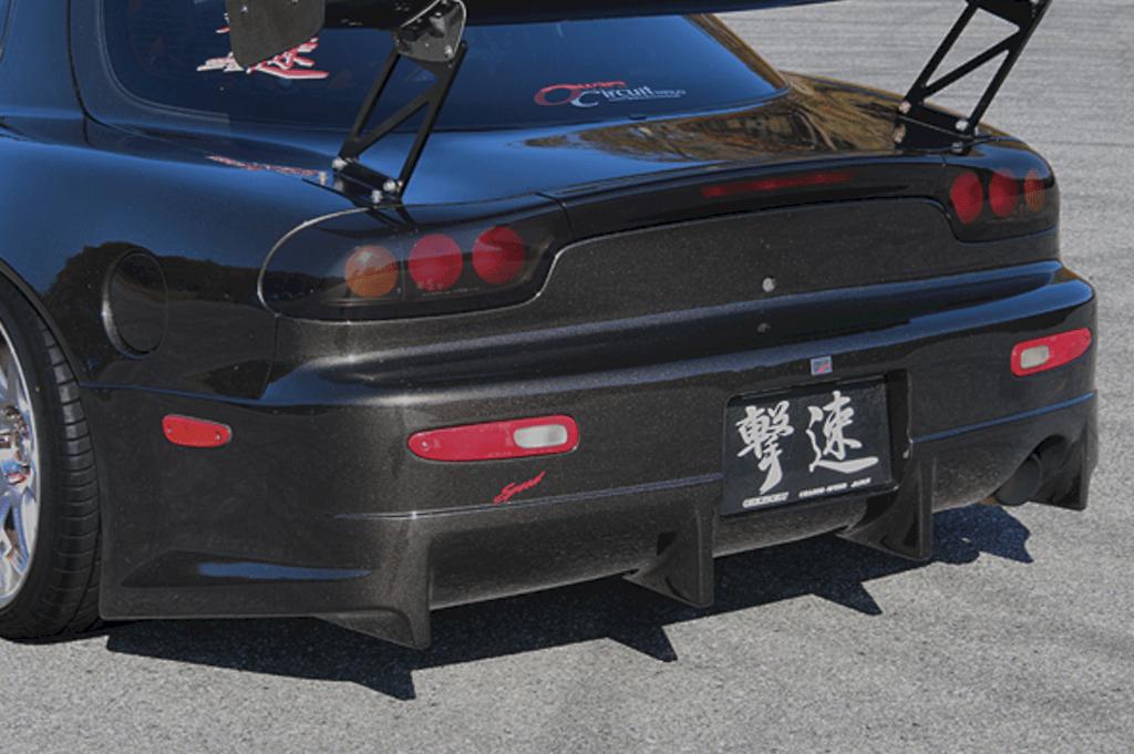 Rear Bumper for wide fenders - Construction: FRP - 003204