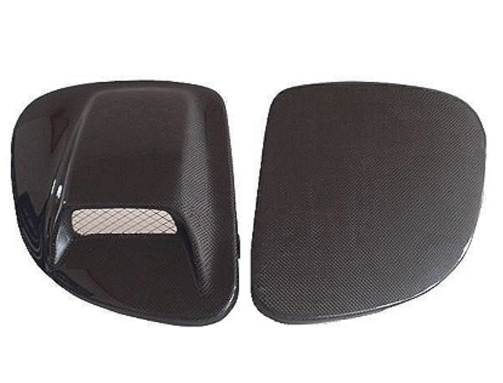 Head Light Cover with Duct - Construction: Carbon - 003504