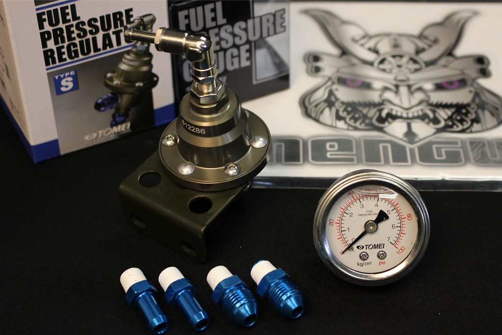 Fuel Gauge 48mm Diameter + Tomei Adjustable Fuel Regulator - Type S (for general tuning)(adapter not