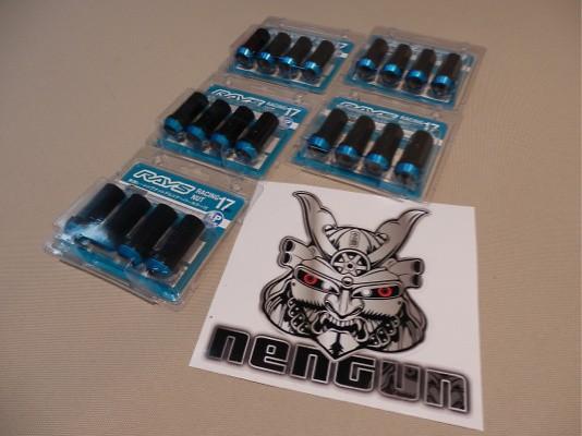 Colour: Blue Tip Black Stem - Thread: M12x1.5 - Quantity: 20 - BLUE M12x1.5 - 5x 4 Pack