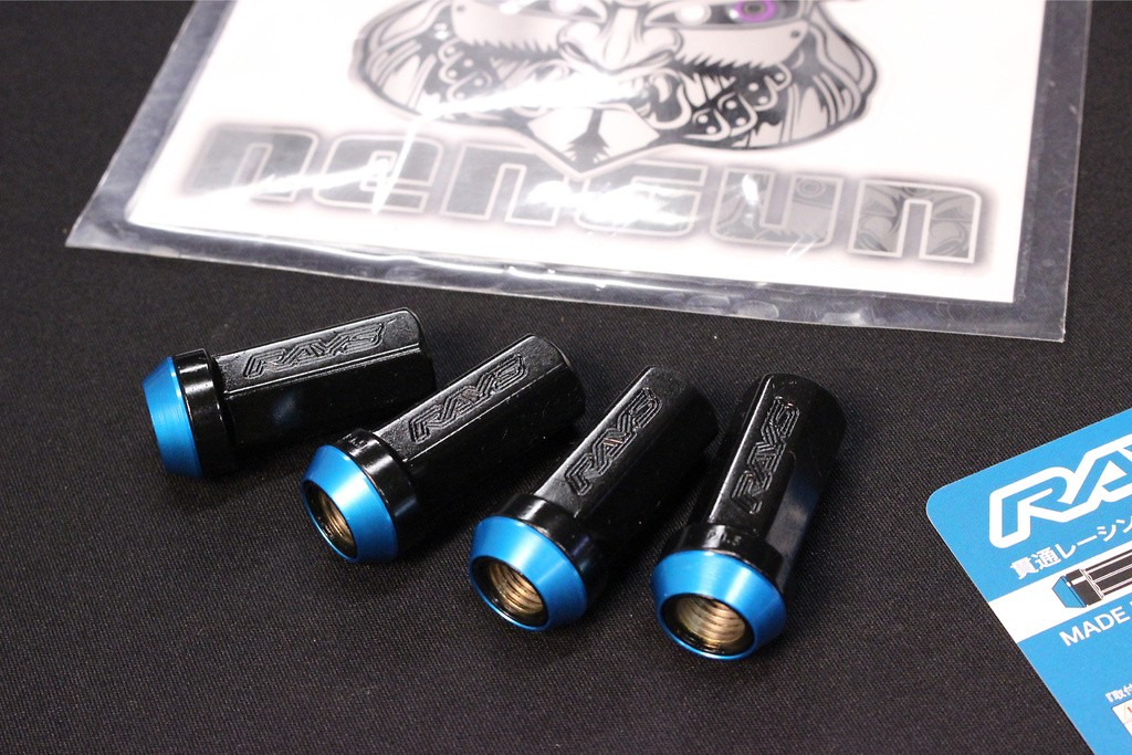 Colour: Blue Tip Black Stem - Thread: M12x1.5 - Quantity: 4 - BLUE M12x1.5