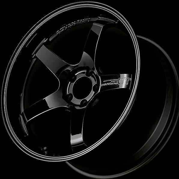 GBP: Racing Gloss Black + Machine-engraved LOGO
